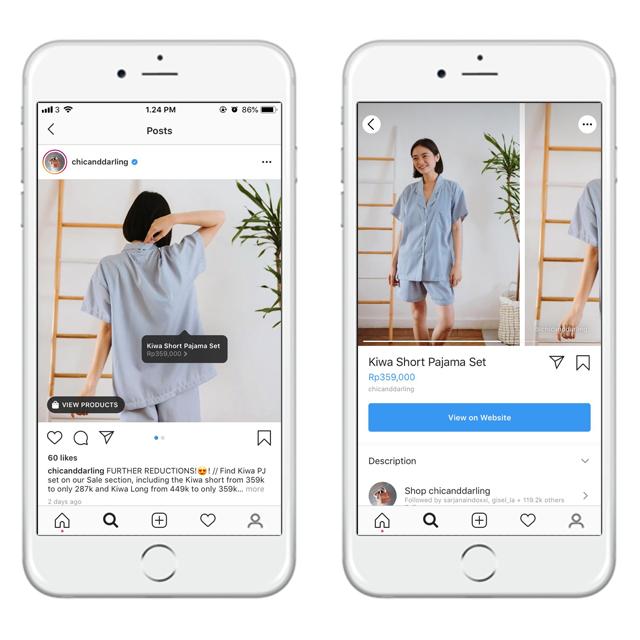 Seperti apa tampilan Instagram Shoping
